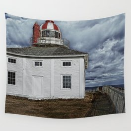 Lighthouse in Newfoundland, Canada Wall Tapestry
