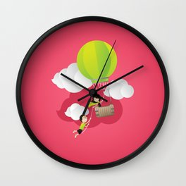 for the adventure of love Wall Clock