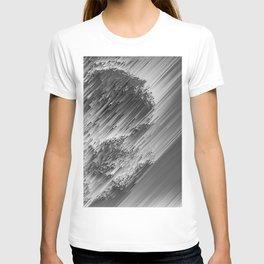 White pixel snow T-shirt