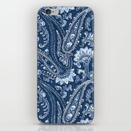 Blue indigo paisley iPhone Skin