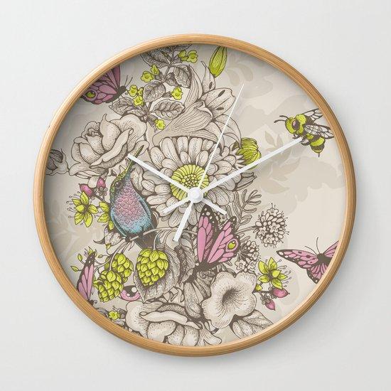 Beauty (eye of the beholder) - cream version Wall Clock