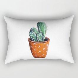 Cute Potted Cactus Rectangular Pillow