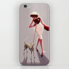 50s dogwalker  iPhone Skin