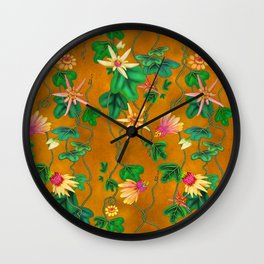 wild passionflowers Wall Clock