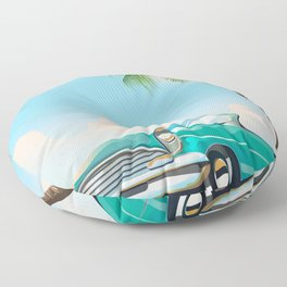 Vintage Auto Floor Pillow