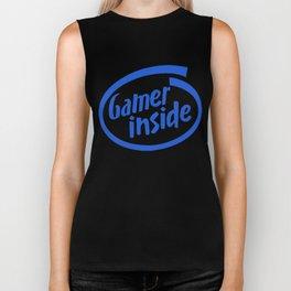 Gamer iNSIDE blue Biker Tank