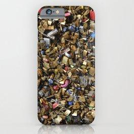 Love lock in Paris iPhone Case