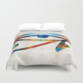 Eye of Horus - Art By Sharon Cummings Duvet Cover