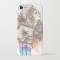 orchid iPhone & iPod Cases featuring Orchid by Bea González