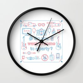 """Blink 182 """"Do you wanna go to a party?"""" Wall Clock"""
