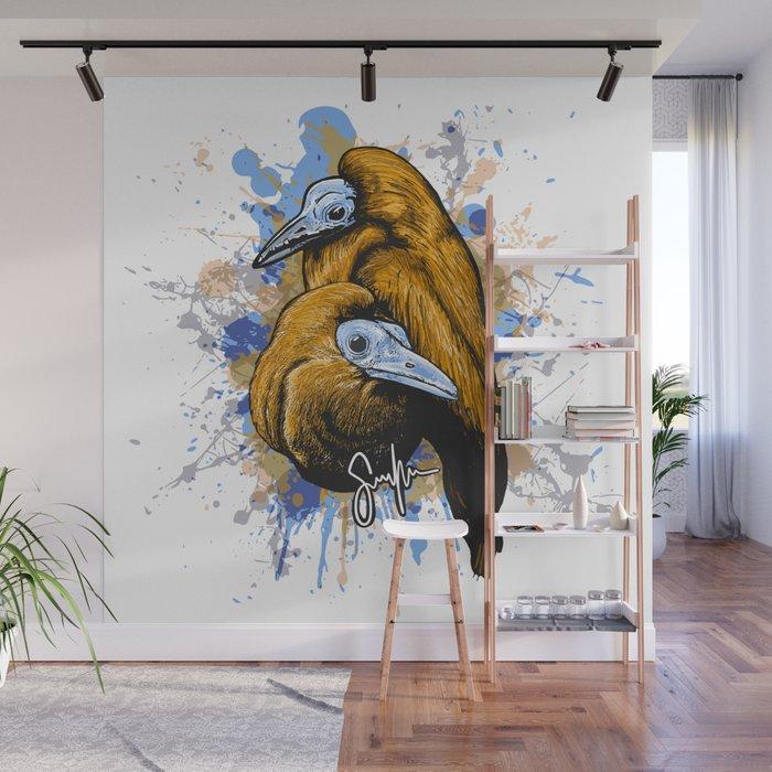 Capuchin birds Wall Mural