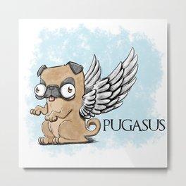 Pugasus Metal Print