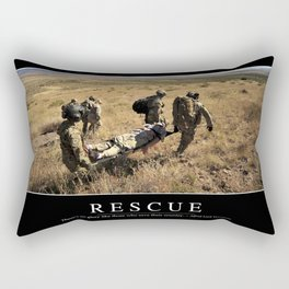 Rescue: Inspirational Quote and Motivational Poster Rectangular Pillow