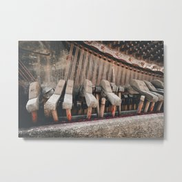 Broken piano Metal Print