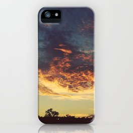 Blue & Gold Sunset iPhone Case