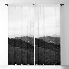 landscape near labin croatia bw Blackout Curtain
