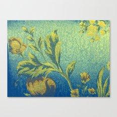 Vibrant Blue Floral Canvas Print