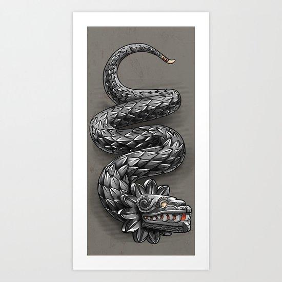 Quetzalcoatl ( flying snake of Aztec ) Art Print
