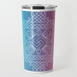 Kolam// rangoli Travel Mug