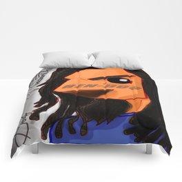 Hen-Dog #001_ Blue Redesign Comforters