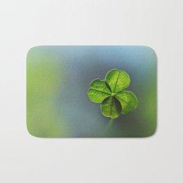 Lucky Four Leaf Clover Bath Mat