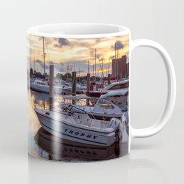 Portsmouth Marina at Sunset Coffee Mug