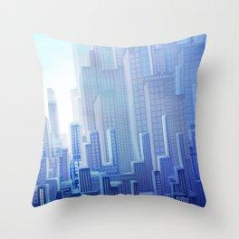 City Blue Throw Pillow