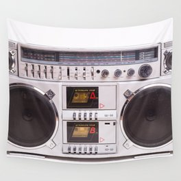 Boom Box Cassette Tape Player. Beautiful vintage music photo Wall Tapestry