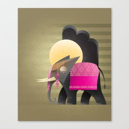 royal elephant Canvas Print