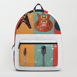 Bass Guitar Colorful Backpack