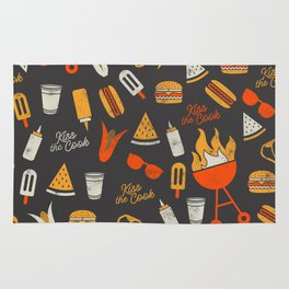 Kiss the Cook BBQ Pattern Rug