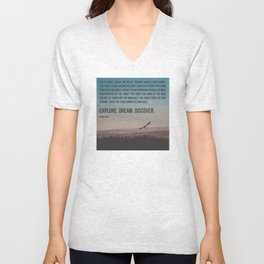 Explore Dream Discover Unisex V-Neck