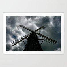 Sky Mill Art Print