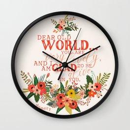 Dear Old World Anne of Green Gables Wall Clock