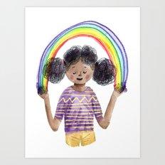 Alexis's Rainbow Art Print