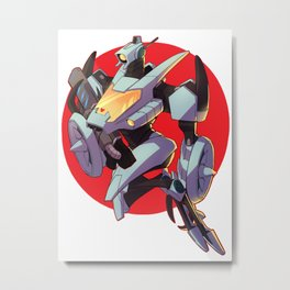 the weapon in red Metal Print