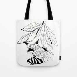 Fairy under angel trumpet - Lineart Tote Bag