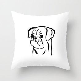 Petit Brabancon (Black and White) Throw Pillow