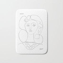 Pablo Picasso La Femme Au Collier (Woman With A Necklace) Bath Mat