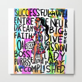 BOSS CHIC Metal Print