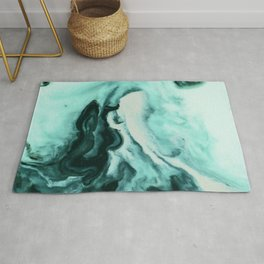 Abstract marbling mint Rug