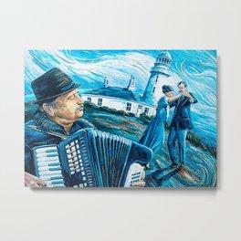 Accordion Accordionist Man Poster Metal Print