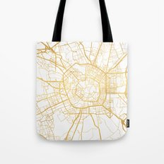 MILAN ITALY CITY STREET MAP ART Tote Bag
