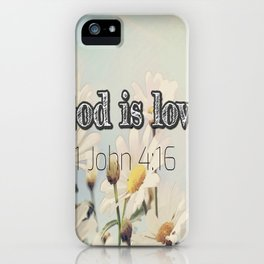 God is Love iPhone Case