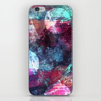 night sky iPhone & iPod Skins featuring Night Sky by Marlidesigns