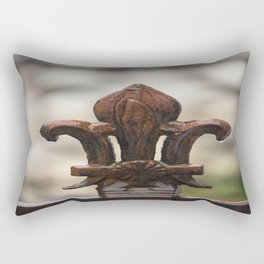 Fluer De Lis - Iron Fluer De Lis with Raindrops in New Orleans French Quarter Rectangular Pillow