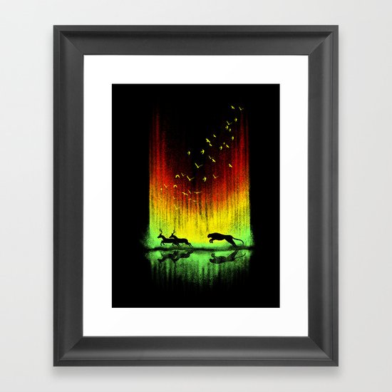 Give chase Framed Art Print