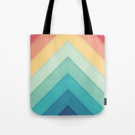 Retro Chevrons 002 Tote Bag