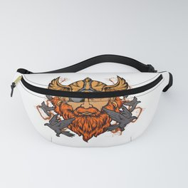 Odin Norse Mythology Viking God & Ravens Fanny Pack