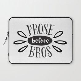 Prose Before Bros - Black On White Laptop Sleeve